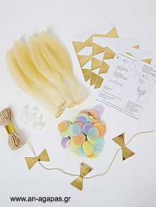 Meri Meri Pastel Balloon Kit (8τεμ)