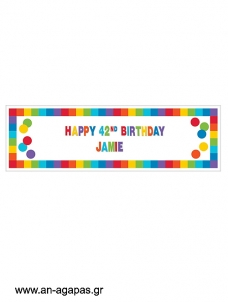 Giant banner Happy Birthday