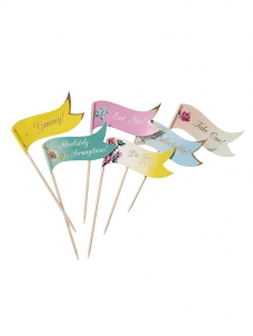 Talking Truly Scrumptious Toothpick Flags