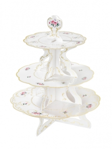 Talking Cake Stand Trully Chintz