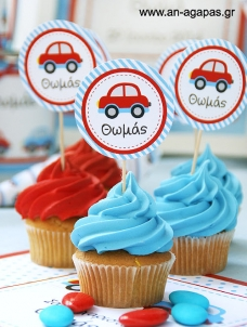 ΑΝ ΑΓΑΠΑΣ – Cupcake toppers Little Cars