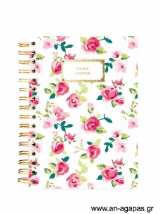 Pretty Floral Take Notes- Spiral Journal