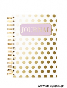 Gold Dot - Spiral Journal
