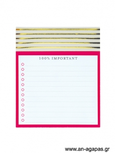 100% Important - jotter notepad