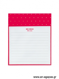 Neon Scallop- jotter notepad