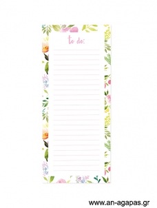 Floral - Magnetic notepad