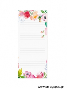 Rose Floral - Magnetic notepad