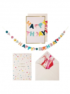 Meri Meri Happy Birthday Garland Card