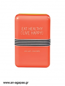 Lunch Box Eat Healthy Live Happy