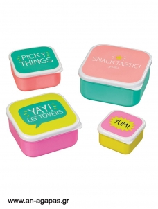Snack Boxes Σετ των 4