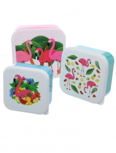 Lunch Boxes Flamingo Σετ των 3