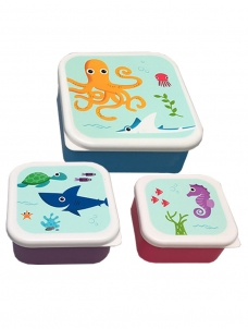 Lunch Boxes Under The Sea Σετ των 3