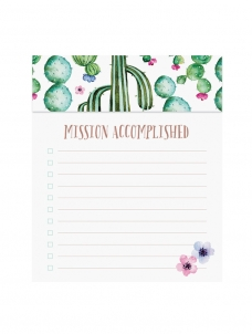 Watercolour Cactus - Jotter Notepad
