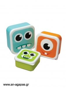 Lunch Boxes Monsters Σετ των 3