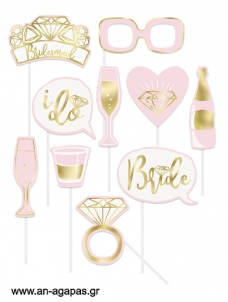 Photoprops Pink and Gold Foil Bachelorette