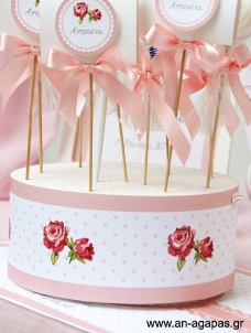 Cake banner Romantic Flowers