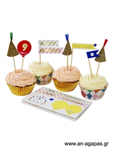 Meri Meri Cupcake kit Happy Birthday