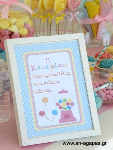 Party Sign Sweet Candy Corner