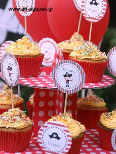 Cupcake Toppers Πειρατής