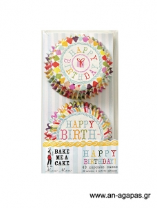 Meri Meri Cupcake cases Happy Birthday