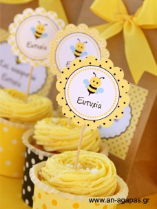 Cupcake Toppers Μελισσούλα