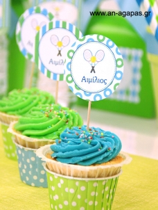 Cupcake Toppers Τέννις