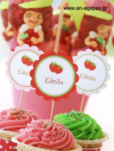 Cupcake Toppers Φραουλίτσα