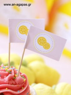 Toothpick Flags Pink Lemonade