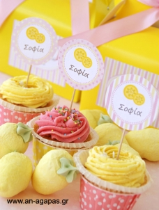 Cupcake Toppers Pink Lemonade