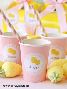 Round sticker Pink Lemonade