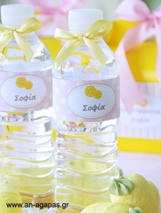 Water Label Pink Lemonade