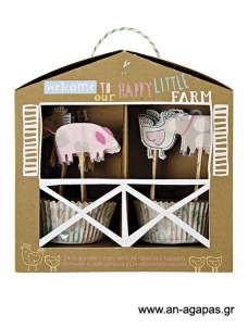 Meri Meri Cupcake kit Happy Farm