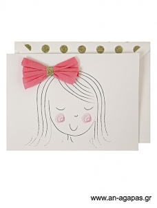 Meri Meri Girl's Bow Card