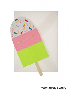 Meri Meri Neon Ice Cream Card