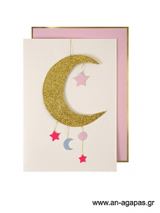 Meri Meri Baby Girl Mobile Card