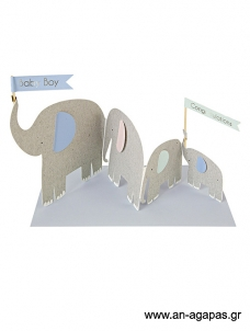 Meri Meri Elephants Card