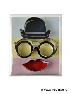 Meri Meri Cookie Cutter Hat Glasses Lips