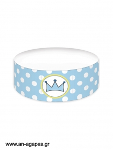 Cake banner Boy Crown