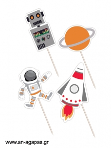 Cupcake Toppers Space