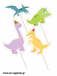 Cupcake Toppers Happy Dino