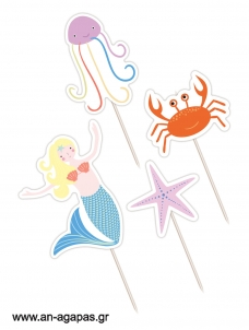 Cupcake Toppers Mermaid