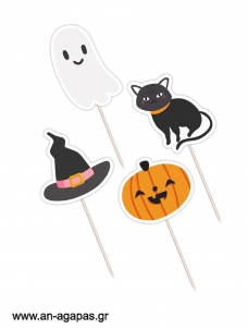 Cupcake toppers Pink Halloween