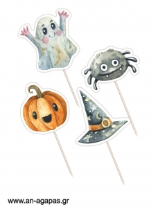 Cupcake toppers Βοοο Halloween