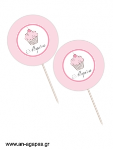 Cupcake Toppers  Tea Time