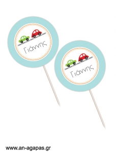 Cupcake Toppers  Vroom Vroom