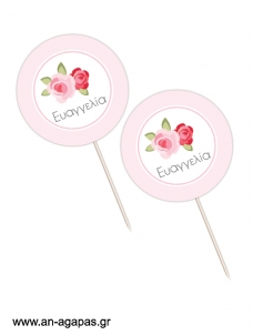 Cupcake Toppers  Blossom in Pink
