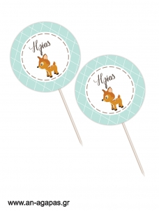 Cupcake Toppers Woodland Boy