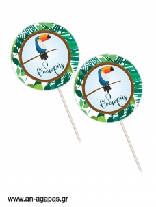 Cupcake Toppers Tropical Jungle