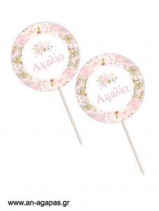 Cupcake Toppers Blooming Girl