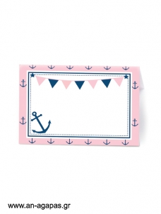 Food Labels Pink Nautical